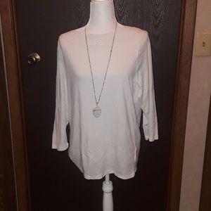•NWT• Lauren By Ralph Lauren White T-shirt